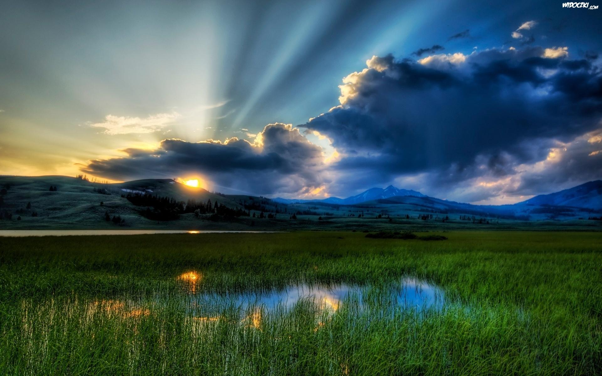 Bagno Chmury Promienie